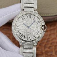 ingrosso orologi alti di platino-moda stellata orologio di lusso strass calendario impermeabile palloncino blu orologio di fascia alta cintura in acciaio a specchio zaffiro platino uomini della vigilanza