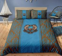 Wholesale green twin bedding sets resale online - Thumbedding Harry Potter Bedding Set Eagle Blue Floral Duvet Cover Set Queen Twin Full Single Double Animal Bed Set With Pillowcases