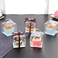 4 Cavidad Blanco Magdalena Pastel Mollete Caja Cajas Con Ventana /& Inserto 5 25 10