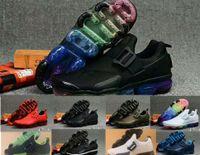 schnürt gürtel großhandel-2020 Dämpfe Air Tanjun Buckle Strap Gürtel Schuhe keine Spitze Farbe Holzkohle Charbon Noir Regenbogen blau schwarz grün weiß Luftkissen Laufschuhe