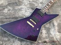 e-gitarre china freies verschiffen großhandel-China E-Gitarre, gesteppte Ahorn Gold Hardware, kostenloser Versand