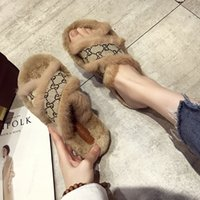 Wholesale patent slipper shoes resale online - Fashion Luxury Designer Women Shoes Slippers Womens Shoes Women Slippers Indoor Sandals Girls Fashion Scuffs High Quality Fur Slides