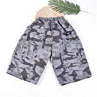 erkek kamuflaj pantolonu gevşek toptan satış-Kamuflaj Erkek Yaz Tasarımcı Kısa Pantolon Kapriler Gevşek İpli Homme Giyim Moda Rahat Rahat Erkek Giyim
