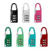 bloqueio de gaveta segura venda por atacado-100pcs / set Mini Digit senha Cadeado Mala de viagem Safe Lock gaveta Código Número Locks bagagem cadeado de segurança 6 cores HHA981