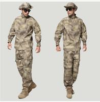 Wholesale camo army uniform resale online - Uniforms Camo BDU Combat Game Army Uniforms Suit Coat Pants wargame suit