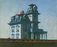 Wholesale house painting art for sale - Group buy Edward Hopper The House By The Railroad Home Decor Handpainted HD Print Oil Painting On Canvas Wall Art Canvas Pictures