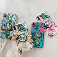 Wholesale sold iphone online – custom Fashion Flower Patterns Phone Case for iPhone XS MAX XR X S Plus Hot Selling Soft TPU phone cases with Bracket