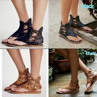 Wholesale big fish sandals for sale - Group buy Toe Clamping Sandals For Women Big Code Flattie Summer Black Yellow Brown Shoes Beach Frenulum Retro Rome lf D1