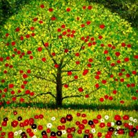 Wholesale framed landscape canvas paintings resale online - Gustav Klimt The appletree High Quality Handcraft HD Print Wall Art Famous oil painting On Canvas Home Decor Multi sizes Options GK