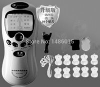Wholesale pulse massager electronic tens therapy resale online - Tens acupuncture digital Therapy Machine Massager Electronic Pulse Massager Health Care Equipment With Heads And Pads SH190727