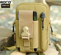 Wholesale bag tactical cordura for sale - ROCOTACTICAL Mens Outdoor Sports Waist Bag Army Fan Molle Tactical Waist Bag Cordura Nylon Running Bags for iPhone Sumsung