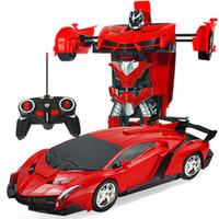 motor 18 toptan satış-Rc araba 1 RC Araba Sürüş spor arabaların içinde Deformasyon 2 Uzaktan Kumanda Araba RC Oyuncak Hediye Mücadele Deformasyon Robotlar Modelleri sürücü