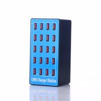 ingrosso caricabatterie multiutente au-Stazione di ricarica USB multi-dispositivo 20A con 20 porte Adattatore di alimentazione Adattatore per caricabatterie da parete USB Smart Power con spina USA per viaggi di casa in ufficio