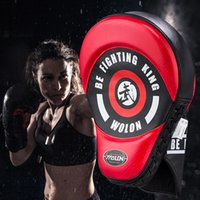 Wholesale punching training bags resale online - Quality Hand Training Boxing Target Martial Thai Kick Pad Kit Karate Train MiFocus Punch Pads Sparring Hand Boxing Bags