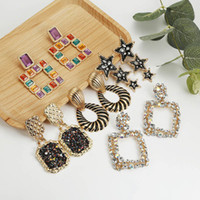 Wholesale fashion modern chandelier for sale - Group buy Fashion Statement Earrings Big Geometric earrings For Women Hanging Dangle Earrings Drop Earing modern Jewelry