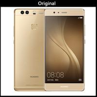 huawei phone großhandel-100% ursprüngliches Huawei P9 3GB / 4GB RAM 32GB / 64G ROM Octa Kern Huawei Telefon Kirin 955 5.2inch Doppel-SIM Karten 12.0MP GEGEN Huawei P10