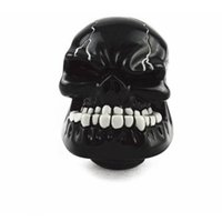 Wholesale skull knobs resale online - Universal Car Manual Gear Stick Shift Shifter Lever Knob Wicked Carved Skull Mask Black silver red blue gold green