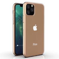 ingrosso custodia in pelle di silicone-Custodia in silicone ultra sottile sottile in TPU morbido trasparente in gomma di silicone trasparente Custodia per Apple iPhone 11 Pro Max XS XR X 8 7 6 6S Plus