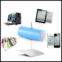 microfone de alto-falante venda por atacado-Hot 3,5 milímetros direto Inserir Stereo Mini Speaker Microphone Speaker Portátil MP3 Music Player for Mobile PhoneTablet PC