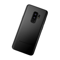 Wholesale phone carbon online – custom Carbon Fiber Soft TPU Phone Cover Flexible Phone Case Premium Silicone Anti Scratch Protective Cover for Samsung S9 etc