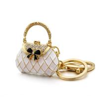 ingrosso bellissimi anelli portachiavi-1PC bella portachiavi borsa fai da te per le donne partito regalo fibbia ciondolo anello portachiavi