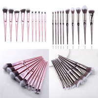 Wholesale hair tapers for sale - Group buy 10 Wet And Wild Series Of Tapered Finger Printing Handle Cosmetic Brush Set Eyeliner Blending Powder Smudge Brush