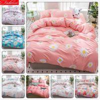 Wholesale orange brown queen comforter set for sale - Group buy Pink Flower Pattern Duvet Cover Bedding Set Adult Kids Child Bed Linen Single Queen King Size Quilt Comforter Pillow Case