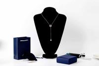 anillos estilo moderno al por mayor-LOLLYPOP forma de anillo en forma de Y en forma de cadena collar accesorios de joyería femenina estilo moderno lleno de belleza femenina