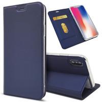 funda billetera iphone plus al por mayor-Funda de cuero de lujo de la PU del tirón para el iphone 11 Pro Max XS MAX XR Funda de la cartera magnética para el iPhone X 7 8 Plus 6s 6 con ranura para tarjeta