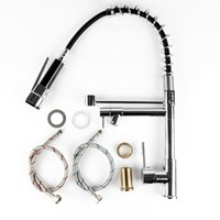 Wholesale ball steel cans resale online - Stainless Steel Rotatable Extension Type Double Outlet Spring Faucet Can Automatically Adjust Hose Length Dropshipping