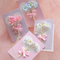 cartes de fleurs fraîches achat en gros de-Carte d'anniversaire petite fleur fraîche Carte de voeux Saint Valentin - ZY20190727-01