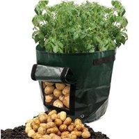 ingrosso piantare fragole-Outdoor Verticale da giardino Appeso Open Style Vegetable Planting Grow Bag Potato Fragola Fioriera Borse per coltivazione di patate