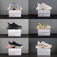 botas de goma viejas al por mayor-2019 Low Old Dad Sneaker Combination Soles Boots Chunky Trainers Rubber Low Top Brand Diseñador de lujo Hombres Zapatos Mujeres Zapatillas deportivas