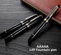 Wholesale pen resin resale online - Luxury Meisterstcek Black Resin Rollerball pen Classic Fountain pen with Nib stationery school office supplies For MB Brands