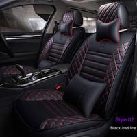 ingrosso auto per corolla-2018 Coprisedili per auto in pelle PU di lusso per Toyota Corolla Camry Rav4 Auris Prius Yalis Avensis SUV accessori interni auto