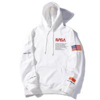 sweatshirts für männer usa großhandel-Heron Preston NASA drucken Hip Hop Hoodies Mann Mode 2019 Kapuzenpulli USA Flagge Pullover Designer Hoodies Männer Frauen Street Hoody