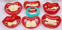 mamilos de alimentação venda por atacado-Chupeta De Silicone Engraçado Mamilo Chupeta Infantil Buck Dentes Interesse Criativo Dentes De Coelho Chupeta Acessórios de Alimentação Chupeta
