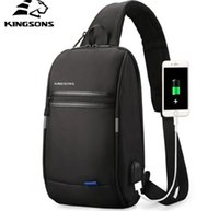 Wholesale lowest laptop prices resale online - Designer Laptop bags Outdoor Chest bags UBS charger Business casual bags adjustable belt Lowest prices