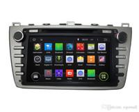автомобильный wifi сенсорный экран оптовых-Емкостный сенсорный экран 100% Android 4.4 8-дюймовый автомобильный DVD GPS для Mazda 6 2008-2012 поддержка DVR OBD встроенный WiFi 3G с Canbus