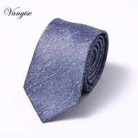 ingrosso cravatte coreane-Moda 6 cm cravatta per uomo sottile stretto bella cravatta facile da tirare corda copricapo coreano stile festa nuziale aniversary blu
