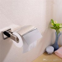 zeitgenössisches badezimmerzubehör großhandel-Neues Design Zeitgenössischen Stil 304 Edelstahl Toilettenpapierhalter Bad-accessoires Chrom Papierrollenhalter