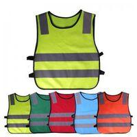roupa de construção reflexiva venda por atacado-Crianças Roupas de Segurança Colete Refletivo Crianças À Prova de Coletes de alta visibilidade Aviso Patchwork colete Ferramentas de Construção de Segurança GGA1561