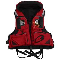 chaqueta de kayak al por mayor-Ayuda de flotabilidad ajustable para adultos Natación Canotaje Vela Pesca Kayak Chaleco salvavidas Chaleco salvavidas