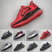 zapatos de bowling para hombres de moda al por mayor-Nike air max 720 Niños niño y niña azul rojo negro gris zapatos deportivos de alta calidad bebé niños diseñadores de moda hombres mujeres zapatillas de deporte zapatos de bowling