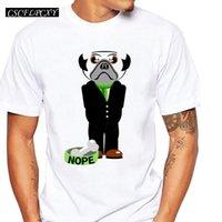 canecas da forma venda por atacado-Snug como um Pug com uma caneca engraçada dos homens t-shirt design de moda Pug hipster dos homens legal tee de manga curta casual tops