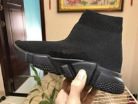 Wholesale chocolate sock resale online - New Speed sock high quality Speed Trainer Casual shoes for men and women shoes Speed stretch knit Mid sneakers shf