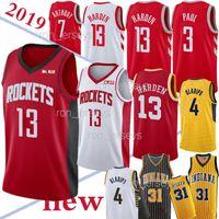 xxl 18 quente venda por atacado-TOP NCAA 13 Jerseys Harden Houston 31 Miller Chris 3 Paul 4 Oladipo Venda Quente Jersey 18/19 Nova 100% costurado camisa