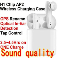 Wholesale headband headphones bluetooth for sale - Group buy H1 chip Generation AP2 TWS Wireless Bluetooth Headphones earphones pop up siri Smart Sensor rename GPS Earbuds w1 PK I12 I10 DZA