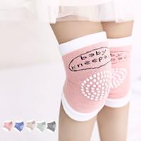meias de segurança para bebês venda por atacado-Bebê Anti Slip Knee Pads Algodão Recém-nascidos Meias Segurança Rastejando Cotovelo Almofada Joelho Protetor de Crianças Kneepad Curto TTA897