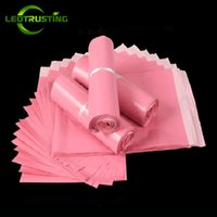 flat envelope Canada - Leotrusting Light Pink Poly Mailing Adhesive Envelope  Bags Shipping Packaging Bags Plastic 9b8625044cb99